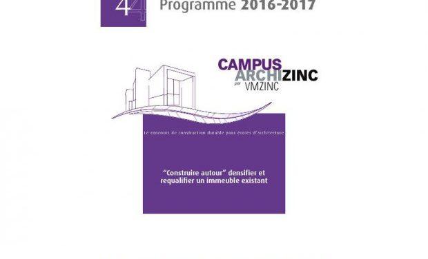 Lancement du concours européen Campus Archizinc construction durable