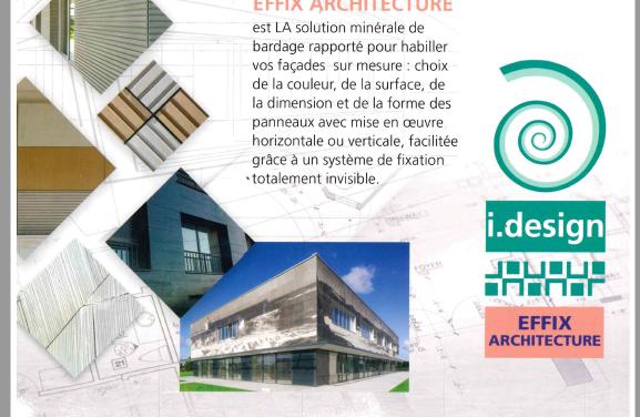 Calcia vante les mérites du bardage i.design EFFIX ARCHITECTURE