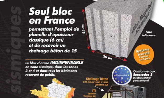 Les nouveaux blocs trapèzes sismiques de Perin Industrie