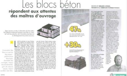 Les blocs béton répondent aux attentes des maîtres d'ouvrage