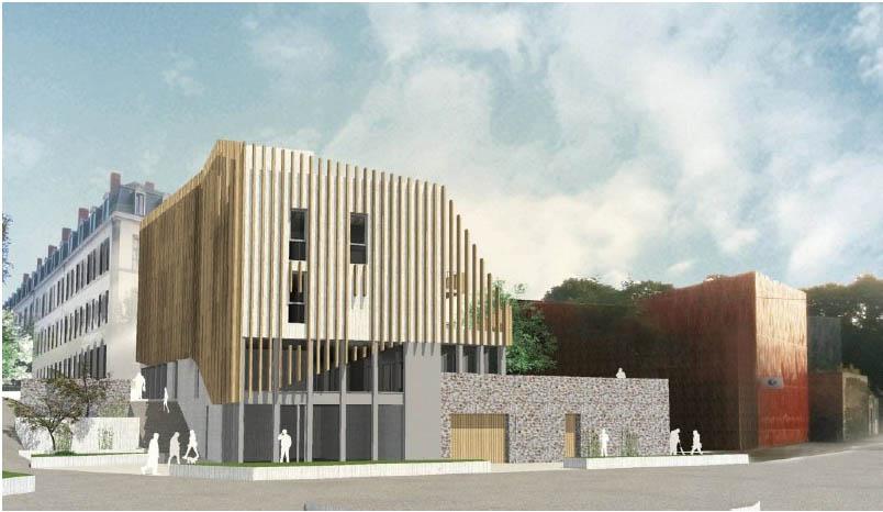 Une nouvelle résidence dans l'ancienne caserne de Laval, le choix du bloc collé Technibloc® de Perin