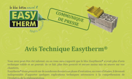 Avis Technique Easytherm®