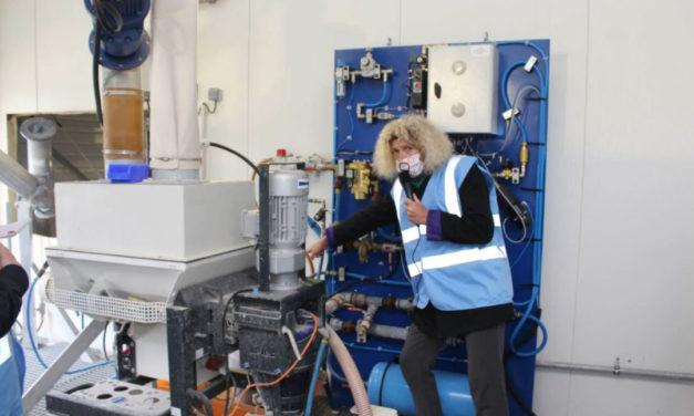 La nouvelle usine de fabrication de parpaings Air'Bloc® a été inaugurée mercredi matin, à Saint-Maudez (Côtes-d'Armor)