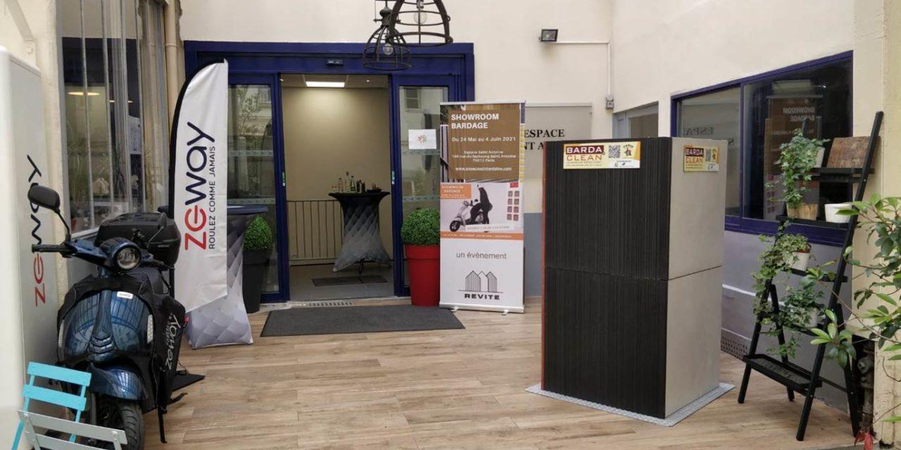 Retrouvez Bardaclean Effix architecture au showroom bardage REVITE à Paris jusqu'au 4 juin 2021