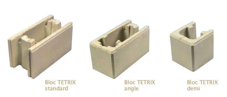 Blocs tetrix perin groupe for Prix de revient au m2 d un mur en parpaing