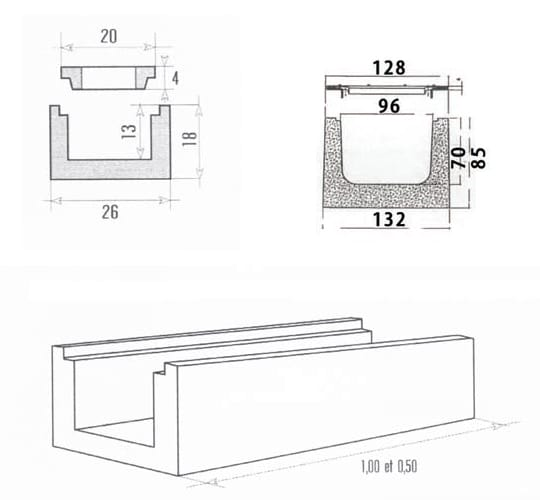 caniveau grille de caniveau perin groupe. Black Bedroom Furniture Sets. Home Design Ideas