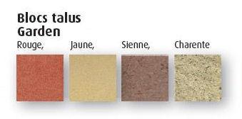 couleur blocs talus
