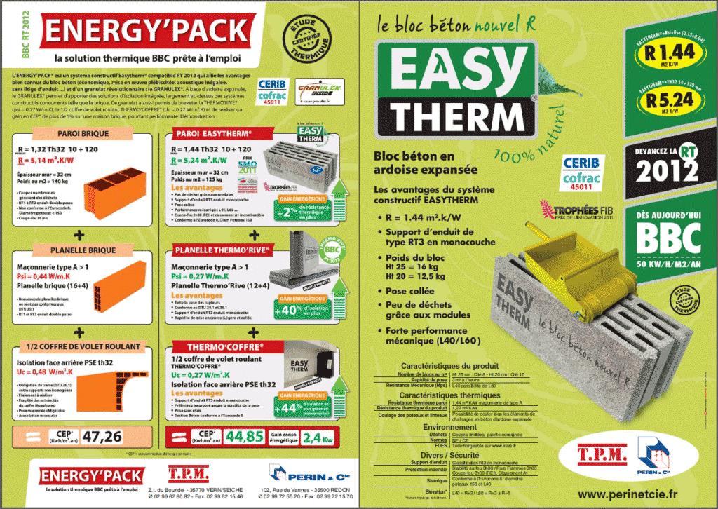 Energypack en bloc de 20 et 25