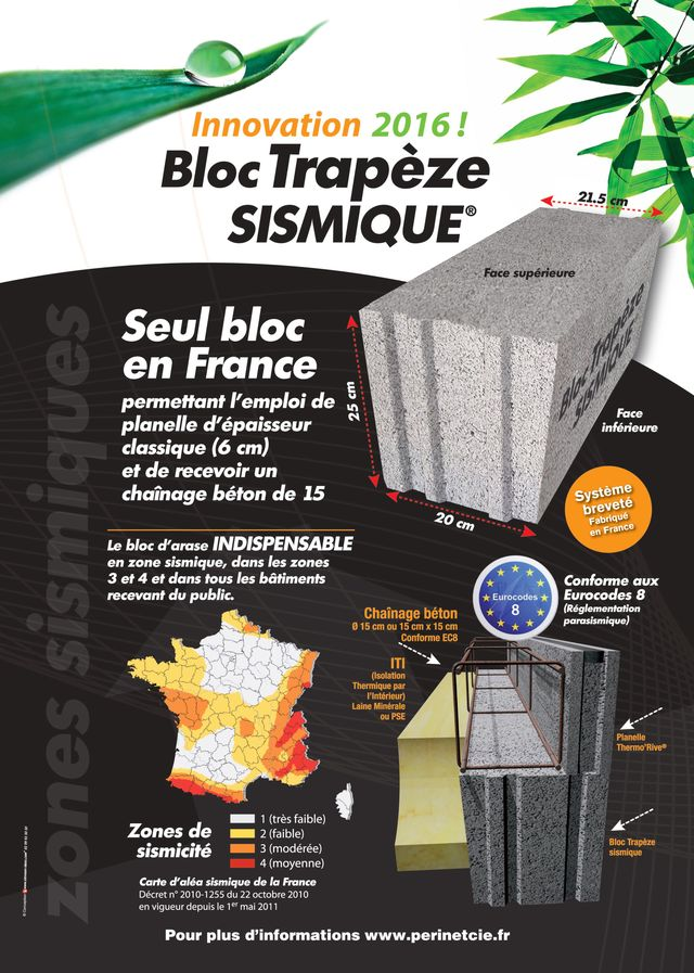 Couverture documentation bloc Trapèze Sismique