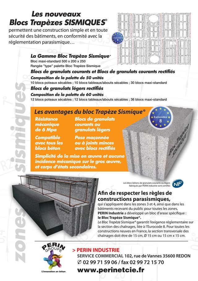 Documentation bloc Trapèze Sismique