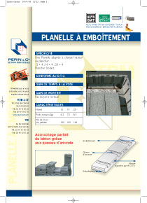 planelle à emboitement
